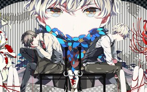 Picture look, blood, guy, Tokyo Ghoul, Tokyo ghoul, The Kaneko Ken