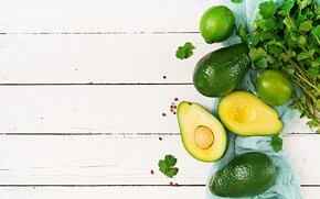 Picture Greens, bow, lime, Avocado