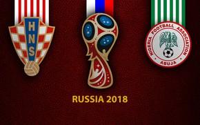 Picture wallpaper, sport, logo, football, FIFA World Cup, Russia 2018, Croatia vs Nigeria