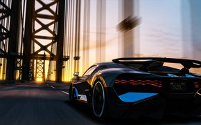 Picture sunset, rendering, Bugatti, supercar, 2018, hypercar, Divo