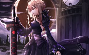 Picture night, sword, the saber, Fate / Grand Order, The destiny of a great campaign