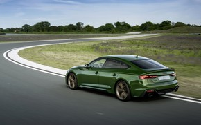 Picture Audi, speed, track, RS 5, 2020, RS5 Sportback