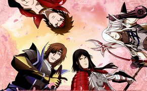 Picture guys, characters, Sengoku Basara, The Era Of Unrest