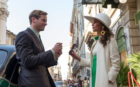 Picture auto, girl, street, male, Armie Hammer, Alicia Vikander, Agents A. N. To.L.