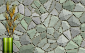 Picture stones, background, wall