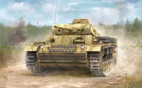 Picture Germany, tank, the Wehrmacht, average, panzerwaffe, Pz.Kpfw.III Ausf.J