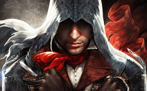 Picture art, hood, guy, Assasin's Creed