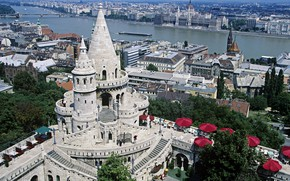 Picture river, panorama, Hungary, Budapest, The Danube