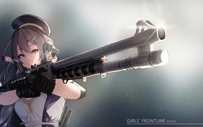 Picture girl, the barrel, gun, M1014, Girls Frontline