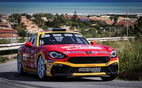 Picture road, rally, settlement, 2018, Abarth, 124 Rally