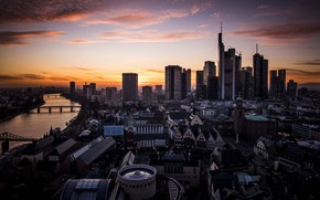 Picture sunset, the evening, Germany, Frankfurt am main