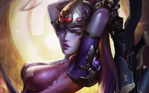 Picture Figure, The game, Lips, Face, Eyes, Blizzard, Art, Art, Game, Amelie, Illustration, Character, Characters, Fan …