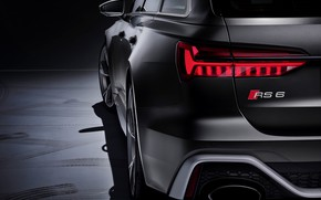 Picture Audi, ass, headlight, bumper, universal, RS 6, 2020, 2019, dark gray, V8 Twin-Turbo, RS6 Avant