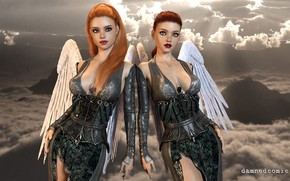 Picture girls, heaven, angels