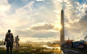Wallpaper the city, art, soldiers, Washington, agents, Tom Clancy's The Division 2, The Division 2