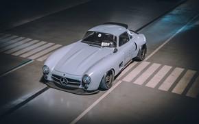 Picture Auto, Machine, Mercedes, Car, Render, Style, Supercar, 300SL, Retro, Supercar, Sports car, Sportcar, Mercedes-Benz 300SL, …