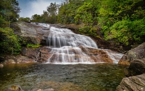 Picture water, lake, waterfall, stream