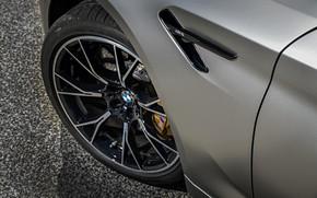 Picture asphalt, grey, wheel, BMW, sedan, 4x4, 2018, four-door, M5, V8, F90, M5 Competition