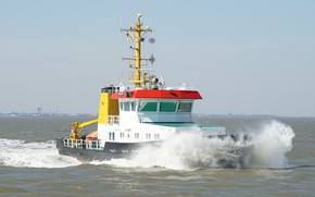 Picture sea, storm, element, tug, Germany