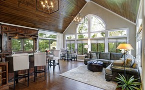 Picture interior, kitchen, living room, dining room, Room addition Hilliard Dave Fox