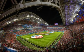 Wallpaper football, architecture, tribune, stadium, Sochi, The Stadium Fischt, The World Cup In 2018, Russia-Croatia