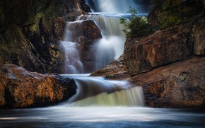 Picture stones, rocks, waterfall, boulders