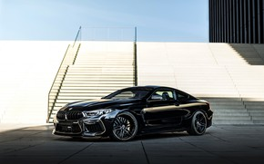 Picture black, tuning, coupe, BMW, ladder, stage, Manhart, 2020, BMW M8, 4.4 L., two-door, V8 Biturbo, …