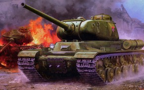 Picture tank, USSR, The red army, Vincent Wai, Is-1, Heavy, Soviet JS-1 Heavy Tank
