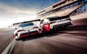 Wallpaper Toyota, Supra, 2018, GR Supra Racing Concept, Xfinity