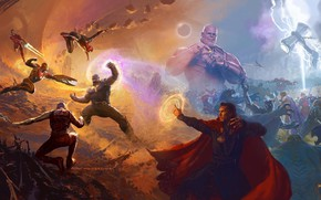 Wallpaper alien, lightning, Nebula, Iron Man, Marvel, Captain America, Spider-man, Thor, Titan, artbook, Black Panther, Guardian ...