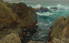 Picture sea, landscape, rocks, picture, Henri Sea, Henry Moret, Rating of Brittany, The Coast Of Brittany