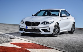 Picture the sky, asphalt, coupe, track, BMW, 2018, F87, M2, M2 Competition