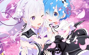Picture girls, Emilia, From scratch, REM, Re: Zero Kara Hajime Chip Isek Or Seikatsu