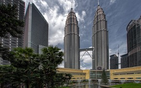 Picture the city, tower, Kuala Lumpur