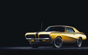 Picture Auto, Machine, Car, Art, Render, Cougar, Design, 1970, Retro, Mercury, Mercury Cougar, Transport & Vehicles, …