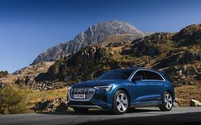 Picture road, Audi, mountain, E-Tron, 2019, UK version