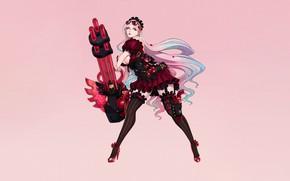 Picture Girl, Sexy, Art, Weapon, Minimalism, Characters, Machine Gun, Ren Wei Pan, DCIC Candy Crusher
