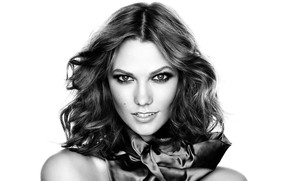 Picture look, model, makeup, model, black and white, look, black and white, makeup, make up, Karlie …