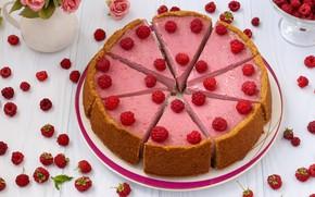 Picture raspberry, cake, cheesecake