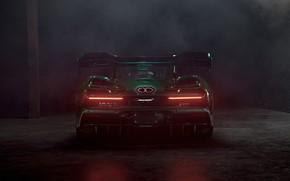 Picture McLaren, supercar, rear view, 2018, Senna, MSO, Fux Green