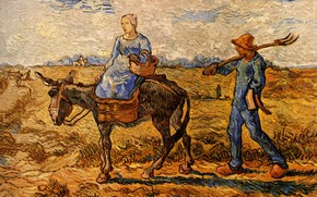 Picture Vincent van Gogh, Morning Peasant, Couple Going to Work
