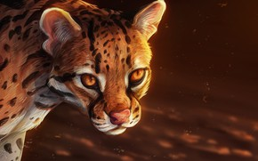 Picture background, leopard, by roseshards