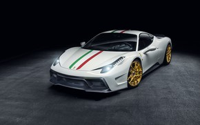 Picture Light, Ferrari, 458, White, Scuderia, Italia