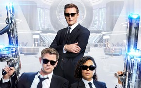 Picture Chris Hemsworth, Chris Hemsworth, Liam Neeson, Tessa Thompson, Men in black: international, Men In Black: …
