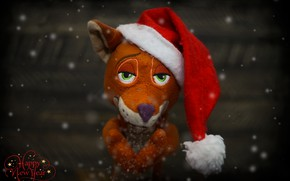 Picture background, toy, Fox, Christmas mood