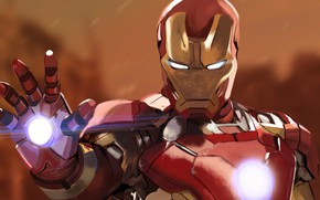 Picture background, art, costume, helmet, Iron man, Iron Man, comic, MARVEL, Tony Stark