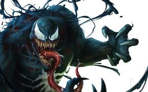 Picture Language, Teeth, Marvel, Venom, Venom, Symbiote, Creatures, by Jens Kuczwara, Jens Kuczwara, Venom Painting