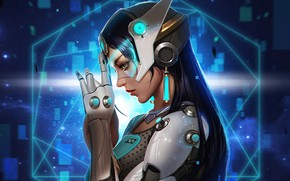 Picture fiction, Girl, Overwatch, Symmetra