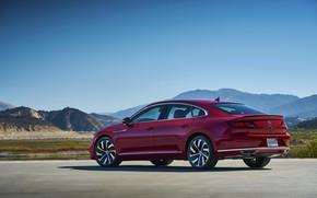 Picture the sky, red, tops, Volkswagen, liftback, Arteon, 2019, SEL Premium R-Line