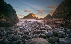 Picture sea, stones, rocks, shore